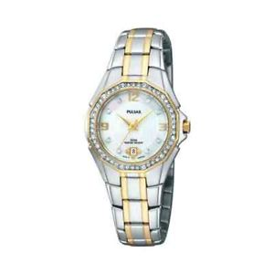 Pulsar Women's  Crystal Mother of Pearl Dial Watch