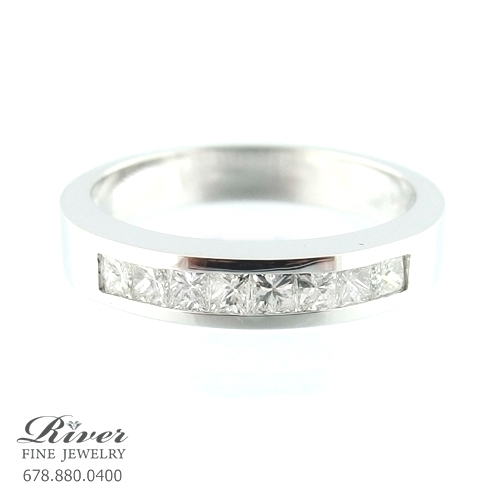 14k White Gold Ladies Diamond Wedding Ring 0.50Ct Total Weight