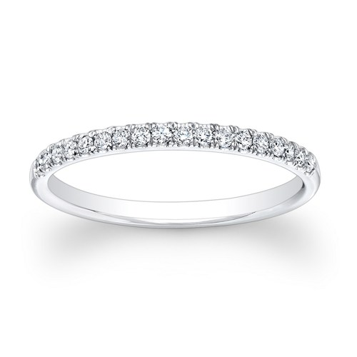 14k White Gold Ladies Diamond Wedding Ring 0.36Ct Total Weights