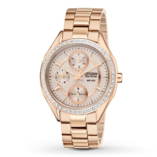 Citizen Women's Drive from Citizen Eco-Drive POV 2.0 Rose Gold Tone Swarovski Crystal Watch