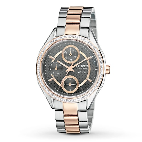 Citizen Women's Drive from Citizen Eco-Drive POV 2.0 Two Tone Rose Gold Swarovski Crystal Watch