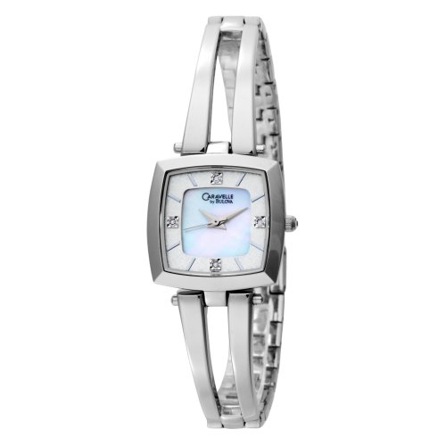Caravelle by Bulova Women's 43P001 Diamond Accented Mother of Pearl Dial Watch
