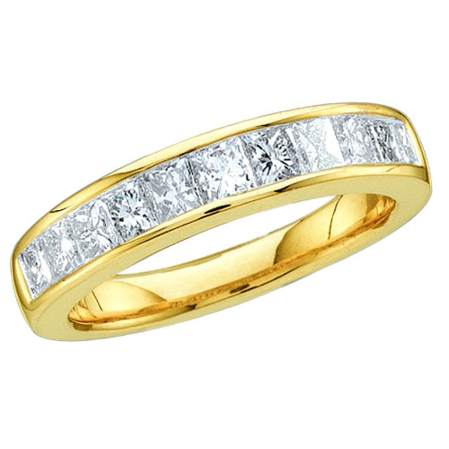 18k Yellow Gold Ladies Diamond Wedding Ring 1.50Ct Total Weights