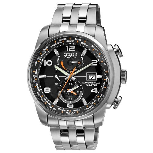 "Citizen Men's AT9010-52E ""World Time A-T"" Stainless Steel Eco-Drive Watch"