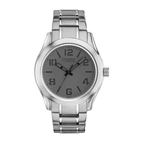 Caravelle by Bulova Men's Silver Tone Retro Dial Watch