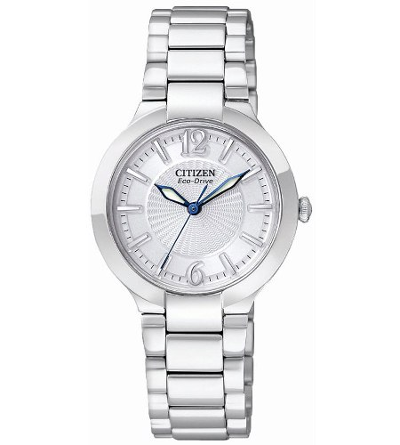 Citizen Women's EP5980-53A Eco Drive Firenza Silver Dial Stainless Steel Watch