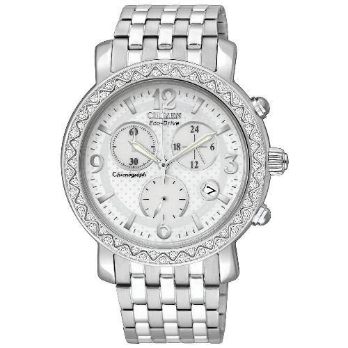 Citizen Women's FB1290-58A Eco-Drive BRZ Swarovski Crystal Accented Chronograph Watch