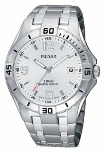 Pulsar Men's  Sport Stainless Steel Silver Dial Watch