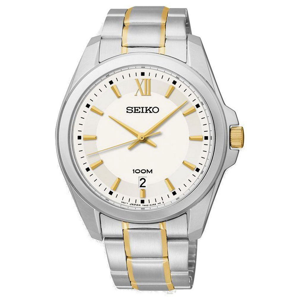 Seiko Two-Tone Stainless Steel Analog Men's watch SGEG63