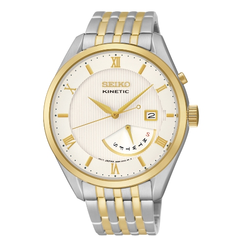 Seiko Men's  Analog Display Japanese Quartz Two Tone Watch