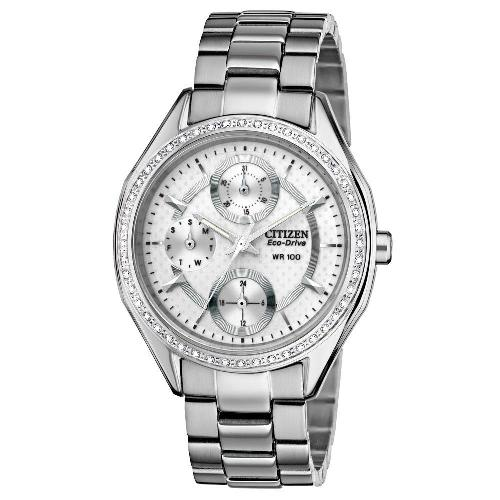 Citizen Women's Drive from Citizen Eco-Drive POV 2.0 Stainless Steel Swarovski Crystal Watch