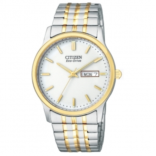 Citizen Men's BM8454-93A Eco-Drive Flexible Band Two-Tone Watch